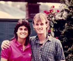 Gabriella Sabatini and Brett Buffington Wimbeldon 1987